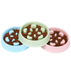 Amazon Hot Selling Plastic Slow Feeder Dog Food Bowl